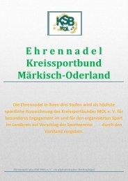 E hrennadel Kreissportbund Märkisch-Oderland Die Ehrennadel in ...