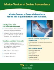 Infusion Services at Sentara Independence - Sentara.com