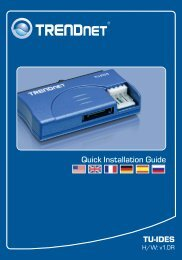 Quick Installation Guide TU-IDES - TRENDnet