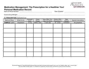 medication administration record template pdf