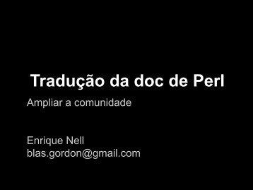 Tradução da doc de Perl