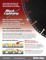 High Speed Diamond Cutting Blade that Cuts ... - Cutters Edge