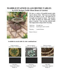 marble/stained glass bistro tables - Seasonal Specialty Stores
