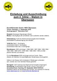 Einladung und Ausschreibung 2010 - Schiclub Oberland