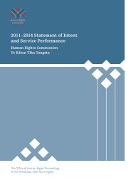 Statement of Intent 2011-2014 - Human Rights Commission