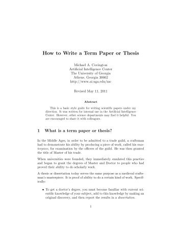 how to write an art thesis paper This post dissects the components of a good thesis statement and the art of persuasion read how to write a essay, but if none of these thesis.