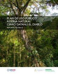 plan de uso público reserva natural cerro datanlí-el diablo - caftadr ...