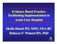 Evidence Based Practice - College of Nursing and Health Professions