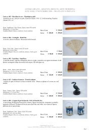antiquariato , argenti, disegni, arte moderna aste 4 del ... - CaputMundi