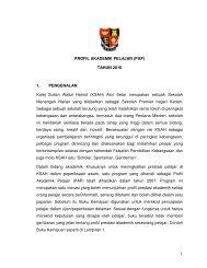 Profil Akademik Pelajar - Jabatan Pelajaran Negeri Kedah