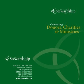 Corporate Brochure - Christian Stewardship Services
