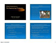 The Engineering Profession - Mechanical Engineering