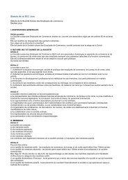 Statuts de la SEC Jura - KV Schweiz