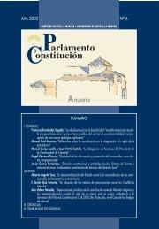 Parlamento y Constitución. Anuario núm. 6 (2002) - Cortes de ...