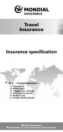 Insurance specification Travel Insurance - Air France