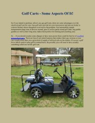 owner's manual golf cart series - HDK Electric Vehicles on