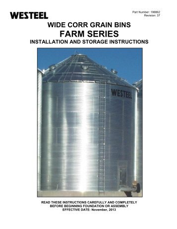WIDE CORR GRAIN BINS - Westeel