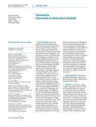 telemetrie szenarien im klinischen Umfeld - Springer