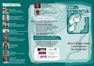 DEMENTIA - School of Nursing, Midwifery and Social Work - The ...