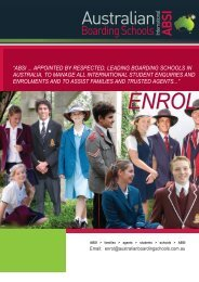 ABSI brochure (PDF) - Australian Boarding Schools International