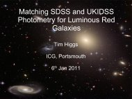 Matching SDSS and UKIDSS Photometry for ... - AstroGrid wiki