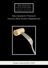 New Zealand's Premium Food & Wine Tourism Experiences