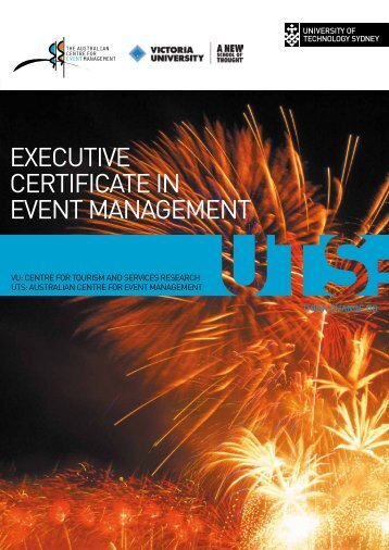 executive certificate in event management - Victoria University