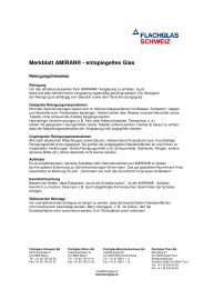 Amiran Reinigungshinweise (PDF 74 KB) - Flachglas Schweiz