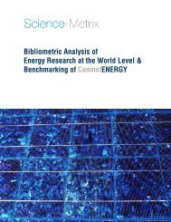 Bibliometric Analysis of Energy Research at the ... - Science-Metrix