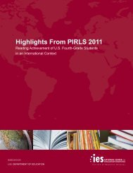 Highlights From PIRLS 2011 - National Center for Education ...