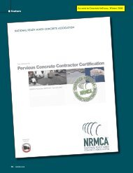Pervious Concrete Contractor Certification - National Ready Mixed ...