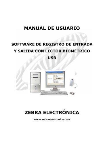 Manual Entrada y salida USB.pdf - Zebra Electronica