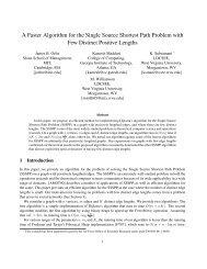 A Faster Algorithm for the Single Source Shortest Path ... - CiteSeerX