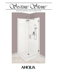 Double Threshold Shower System Installation Guide