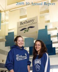 2009-10 Annual Report - Bethany Christian Schools