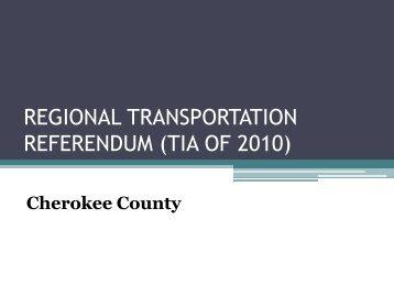 Cherokee - Regional Transportation Referendum