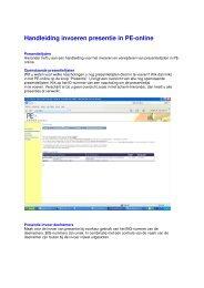 Handleiding invoeren presentie in PE-online - KNMP