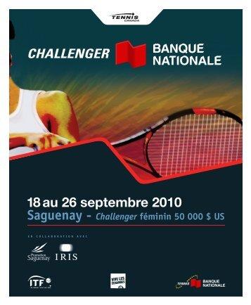 PRiNCiPAuX CoMMANDiTAiRES - Tennis Canada