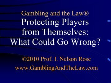 Protecting Players From Themselves: What Could Go Wrong?