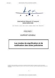 VOLUME 1 RAPPORT GENERAL Les modes de signification et de ...