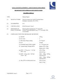 Mainair Rapier - Civil Aviation Authority