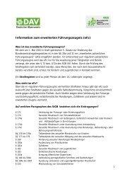 Information zum erweiterten Führungszeugnis (eFz) - JDAV