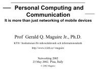 Personal Computing and Communication: It is more than just ...