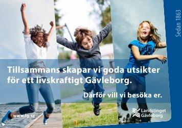 Inbjudan skolbesök (folder) - Landstinget Gävleborg