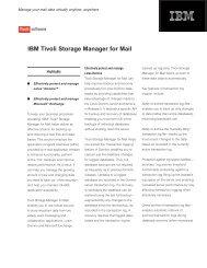 IBM Tivoli Storage Manager for Mail