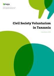 Civil Society Voluntarism in Tanzania - Kepa.fi