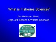 What is Fisheries Science? - Fish and Wildlife Conservation