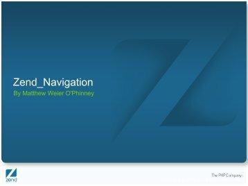 Zend navigation