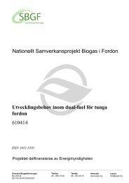 SBGF610414 Utvecklingsbehov inom dual-fuel för tunga fordon - SGC