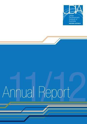 2011-12 Annual Report - Urban Development Institute of Australia